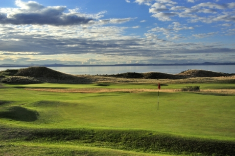 Gullane No 1. 13th green and 12th