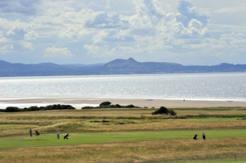 Gullane No 1. 5th with Edinburgh behind