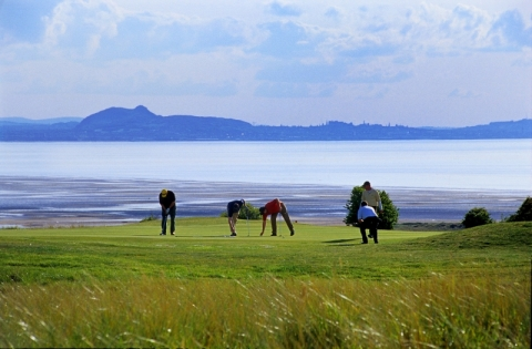Gullane with Edinburgh backdrop